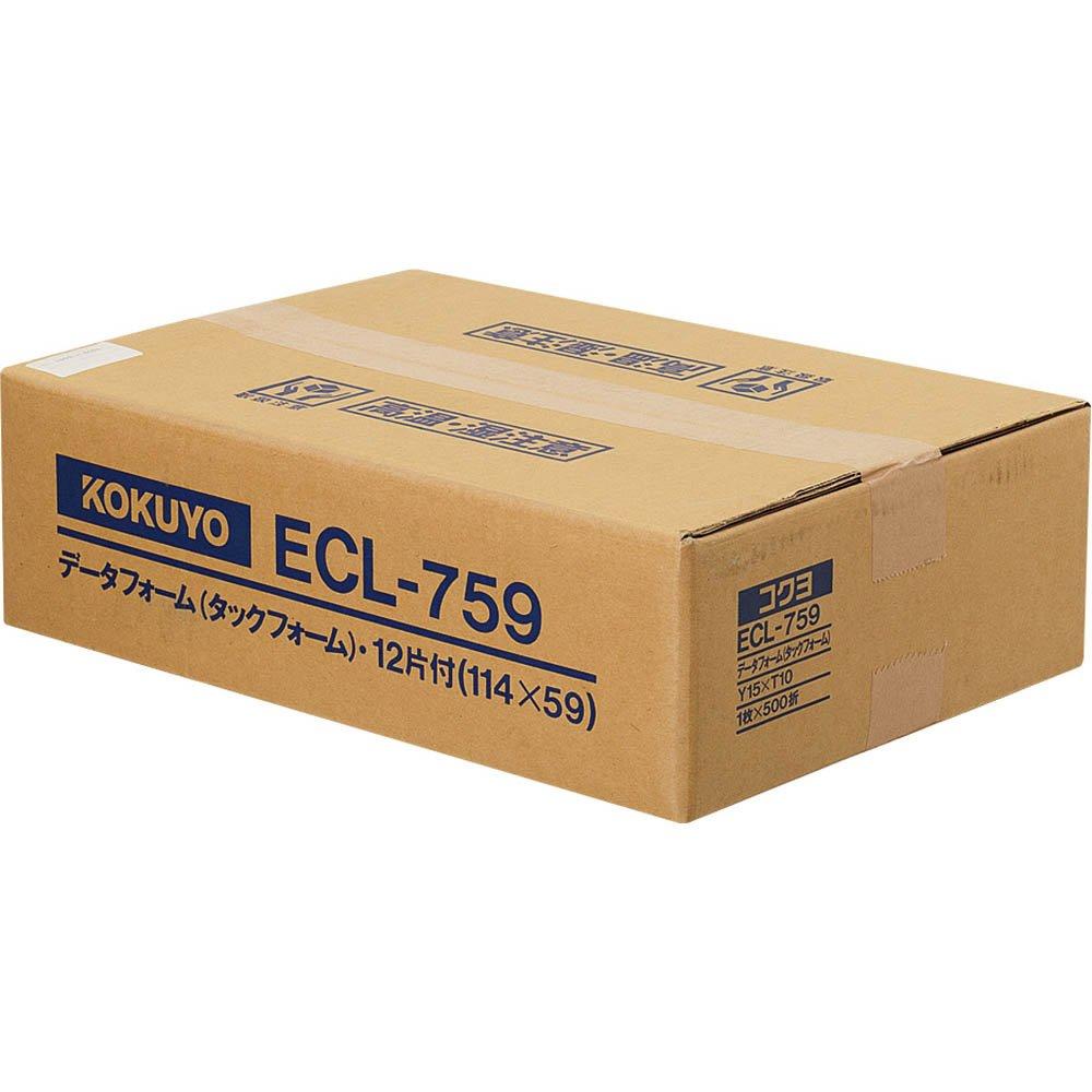 コクヨ タックフォーム Y15XT10 12片 500枚 ECL-759【北海道・沖縄・離島配送不可】