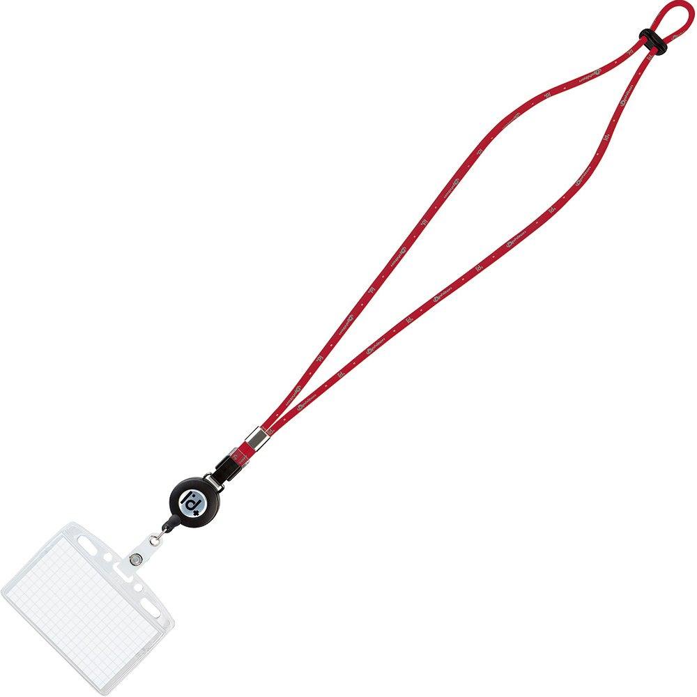 (まとめ買い)コクヨ ネックストラップ名札 シングルタイプ I'd+ウィズファイテン 赤 ナフ-FR180R 〔10個セット〕【北海道・沖縄・離島配送不可】