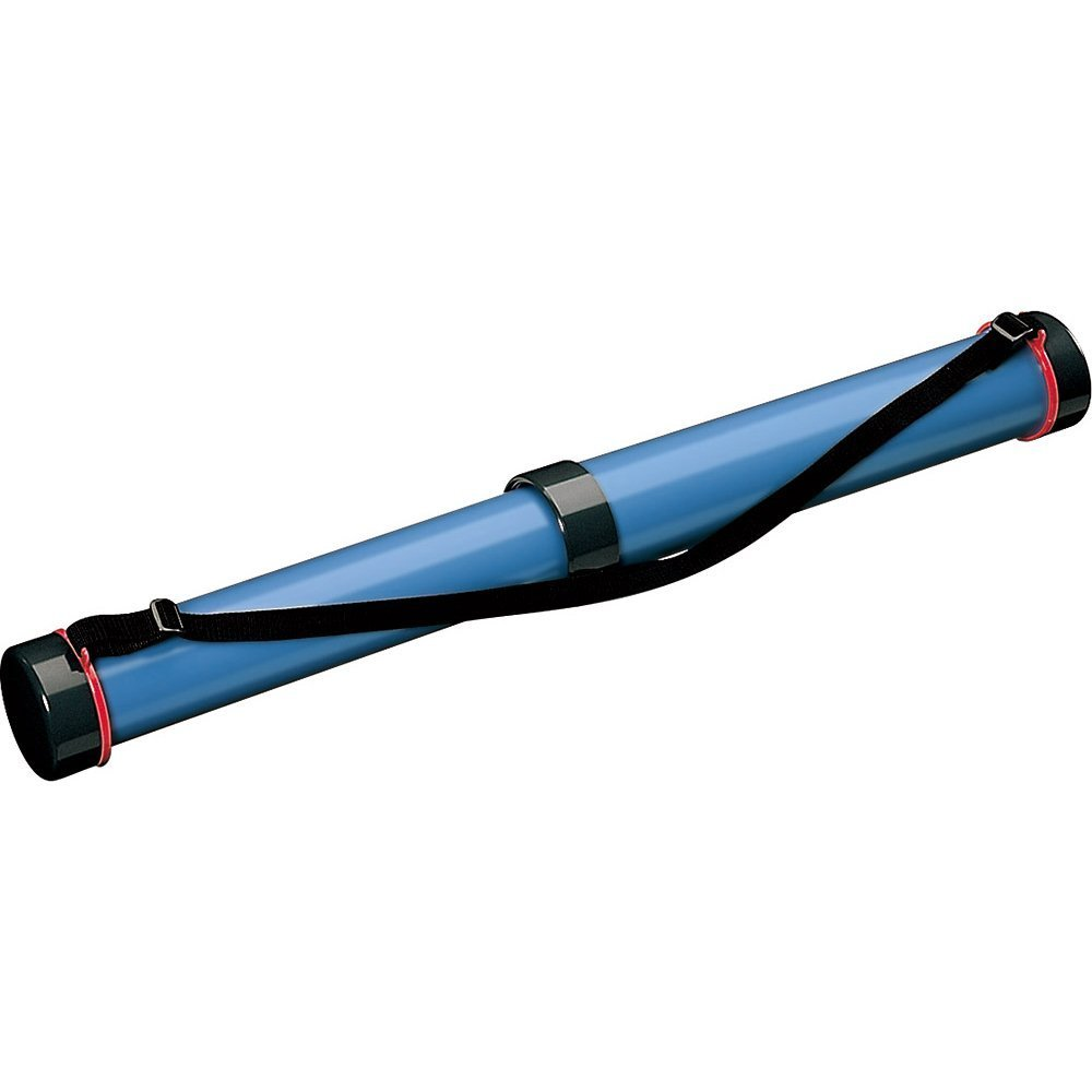 (まとめ買い)コクヨ 図面ケース フリーケース スライド式樹脂筒 青 セ-RF20B 〔×3〕