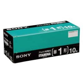【送料無料】(まとめ買い)ソニー SONY アルカリ乾電池 STAMINA カートンパック(業務用)単1形 10本入 BA-LR20SG10XD 〔10箱セット〕
