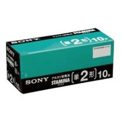 【送料無料】(まとめ買い)ソニー SONY アルカリ乾電池 STAMINA カートンパック(業務用)単2形 10本入 BA-LR14SG10XD 〔10箱セット〕