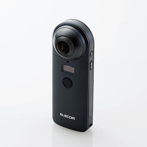 【送料無料】エレコム 360°カメラ 4K スタンドアローンタイプ オムニショット ブラック OCAM-VRW01BK