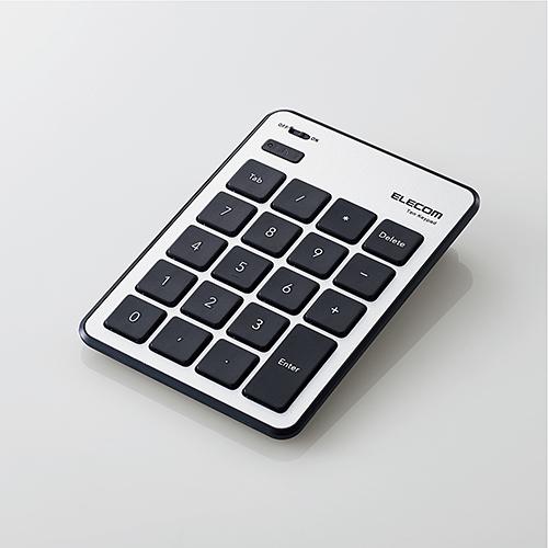 c3261ec740d ELECOM Bluetooth numeric keypad pantograph MacOS correspondence thin silver  TK-TBPM01SV ...