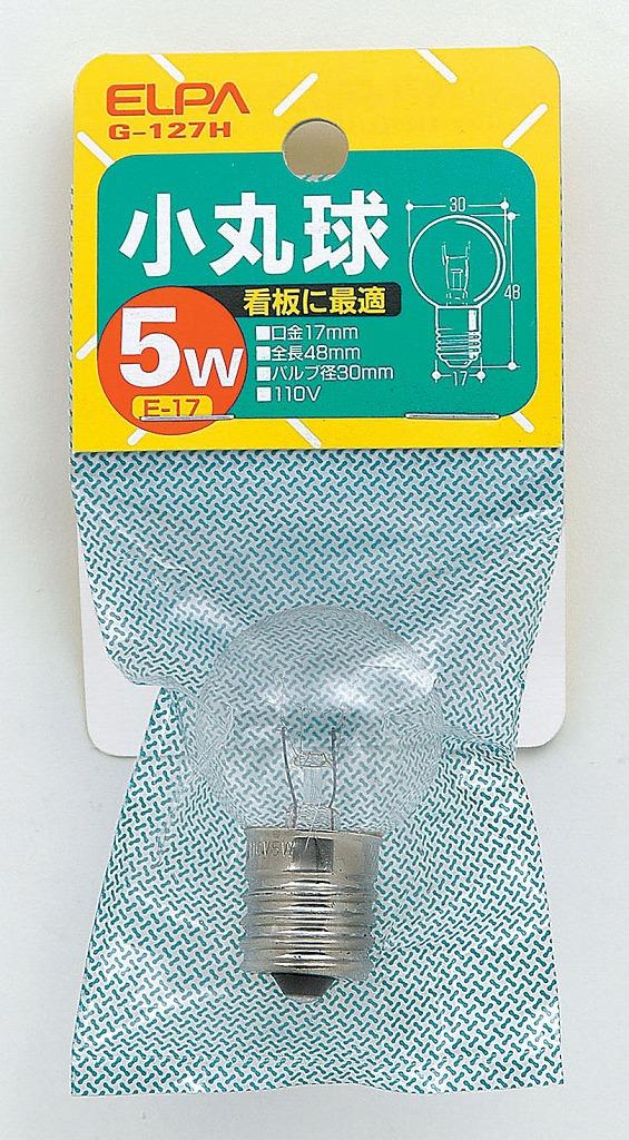 ELPA komaru bulb E17 5 W G-127H