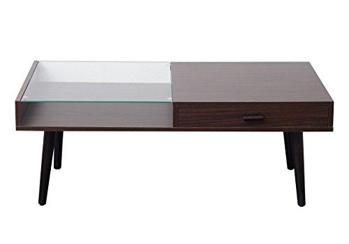 【送料無料】ガラス収納テーブル,コレクションテーブル 幅90×奥行45×高さ40(cm) ダークブラウン TAS-0012DBR【代引不可】