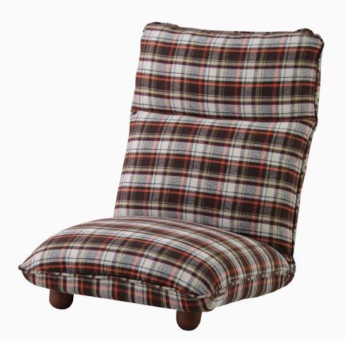 【送料無料】AZUMAYA 座椅子カレン ブラウン色 LSS-13BR【代引不可】
