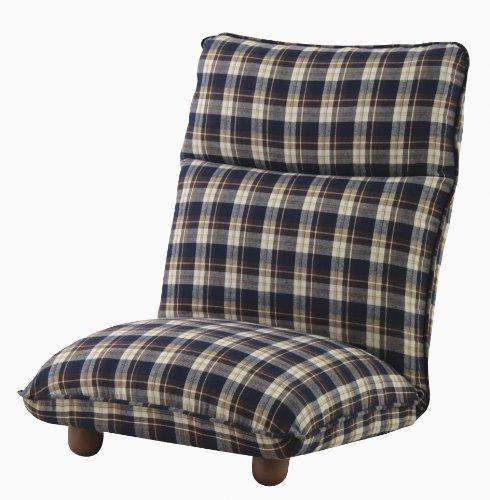 【送料無料】AZUMAYA 座椅子カレン ブルー色 LSS-13BL【代引不可】
