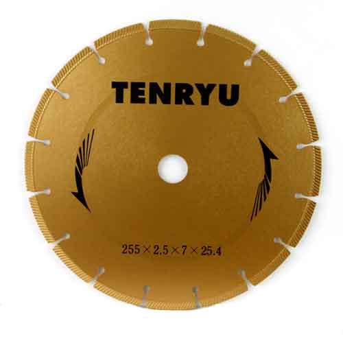 TENRYU・ダイヤモンドカッター乾式用・255X2.5X25.4【代引不可】【北海道・沖縄・離島配送不可】