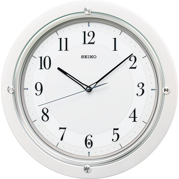 セイコー 電波掛時計 白パール KX217W