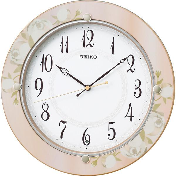 【送料無料】セイコー 電波掛時計 薄ピンク KX220P