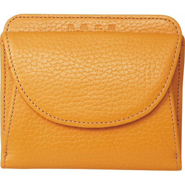 【送料無料】良品工房 日本製牛革二つ折財布 キャメル B0110-201CA