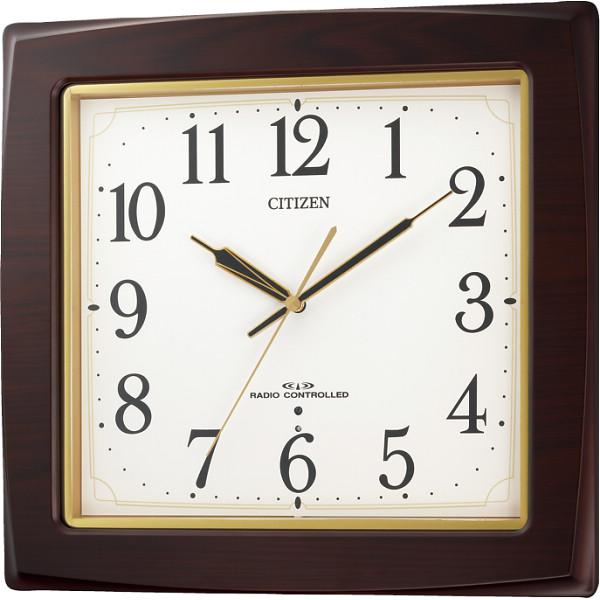 シチズン 木枠電波掛時計 8MY455-006