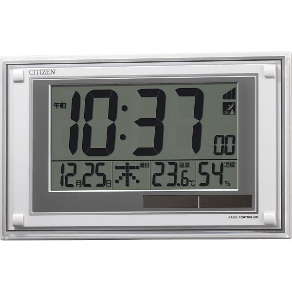 シチズン ソーラー電源電波時計(掛置兼用) 8RZ189-003