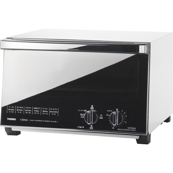 【送料無料】ツインバード ミラーガラスオーブントースター TS-4047W