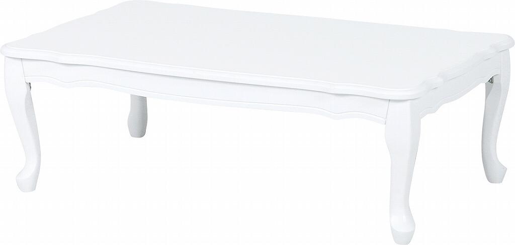 【送料無料】折れ脚テーブル MT-7031WH【代引不可】