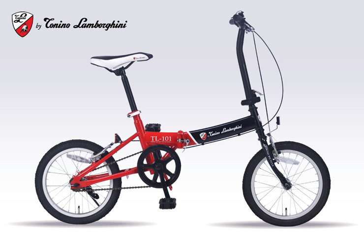 Tonino Lamborghini 16 Inches Folding Bike Black / Red TL 101 New