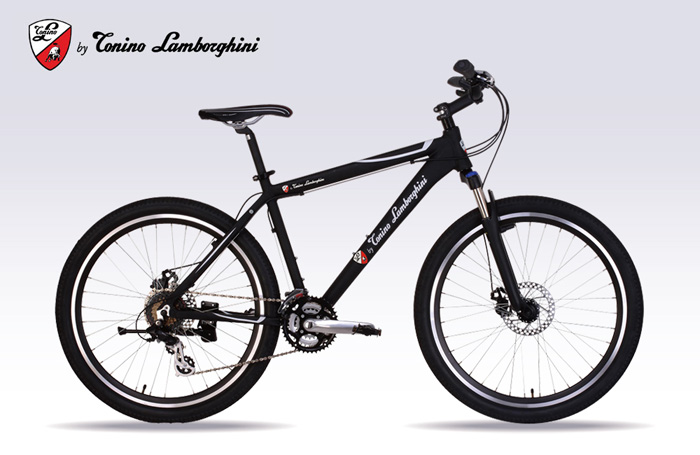 Tonino Lamborghini 26 Inch ATB 21 Speed Aluminum Frame Black TL 2622  Mountain Bike New