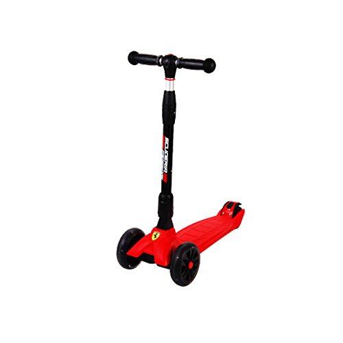 キックボード キックスクーター スクーデリア フェラーリ 対象年齢4~12歳 光る LEDタイヤ FXK36 折り畳機能付きスクーター【代引不可】