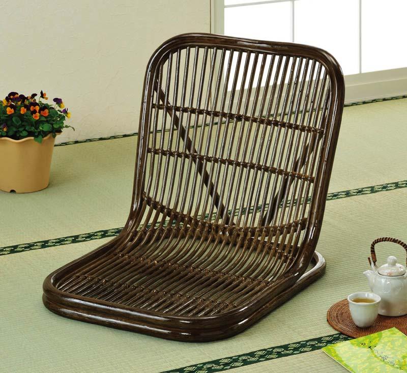 ラタン(籐) 座椅子 S14B【代引不可】【北海道・沖縄・離島配送不可】