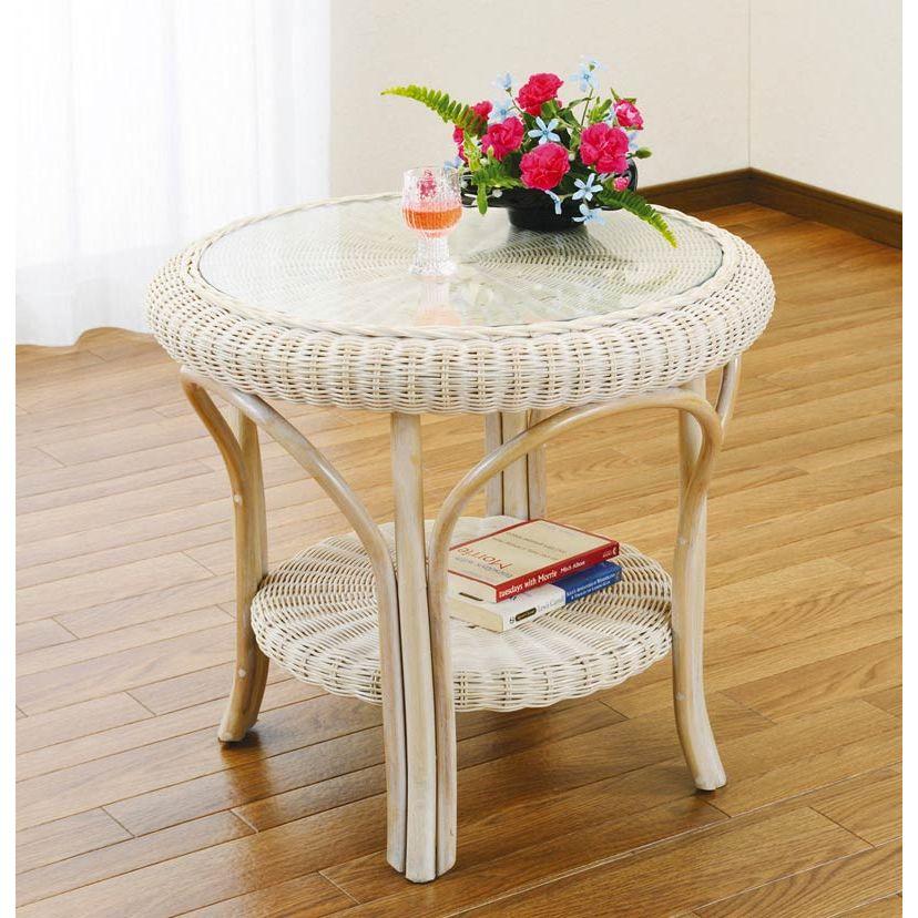 【送料無料】ラタン(籐) テーブル T130【代引不可】
