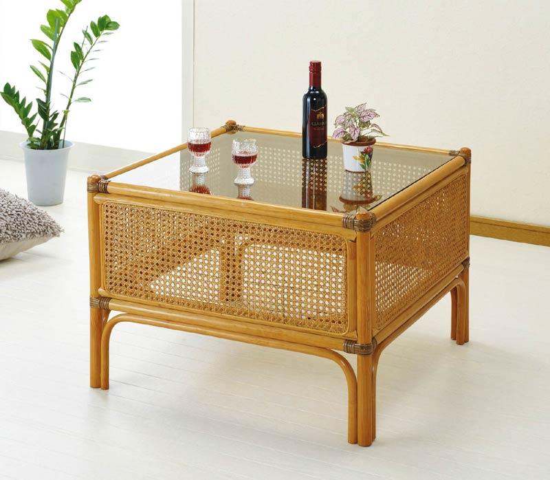 【送料無料】ラタン(籐) テーブル T148【代引不可】