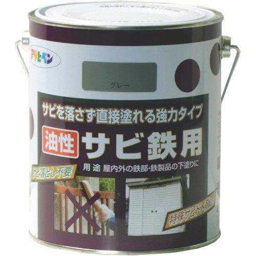 (まとめ買い)アサヒペン 油性サビ鉄用 1.8L グレー色 〔3缶セット〕【北海道・沖縄・離島配送不可】