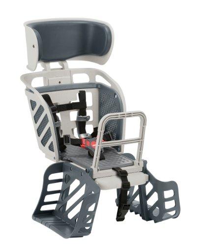 【送料無料】OGK フリーキャリーシステム用ヘッドレスト付着脱後ろ子供乗せ RBC-009DXF3 Wグレー【代引不可】
