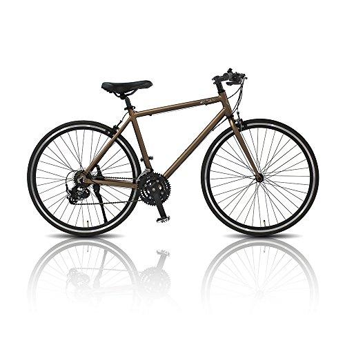 【送料無料】TRAILER(トレイラー) 700C アルミ クロスバイク 21段変速 TR-C7005-GD GD(ゴールド)【代引不可】