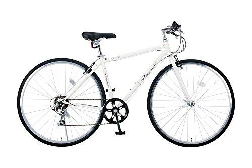 【送料無料】Raychell(レイチェル) 700Cクロスバイク シマノ7段変速 フロントライト標準装備 CR-7007R [メーカー保証1年] ホワイト 35653【代引不可】