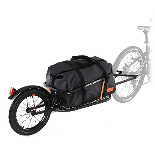 【送料無料】DOPPELGANGER(ドッペルギャンガー) シングルホイールサイクルトレーラー 防水バッグ付属 KUUBOシリーズ DCR363-DP【代引不可】