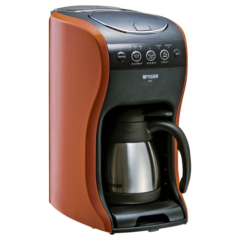 【送料無料】〔ギフト〕タイガー コーヒーメーカー 4杯用 真空 ステンレス サーバー バーミリオン カフェバリエ ACT-B040-DV Tiger【代引不可】