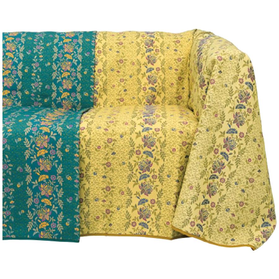 【送料無料】川島織物セルコン MINTON(ミントン) カラーズオブハドン マルチカバー 195×195cm HV1200S・Y(イエロー)【代引不可】