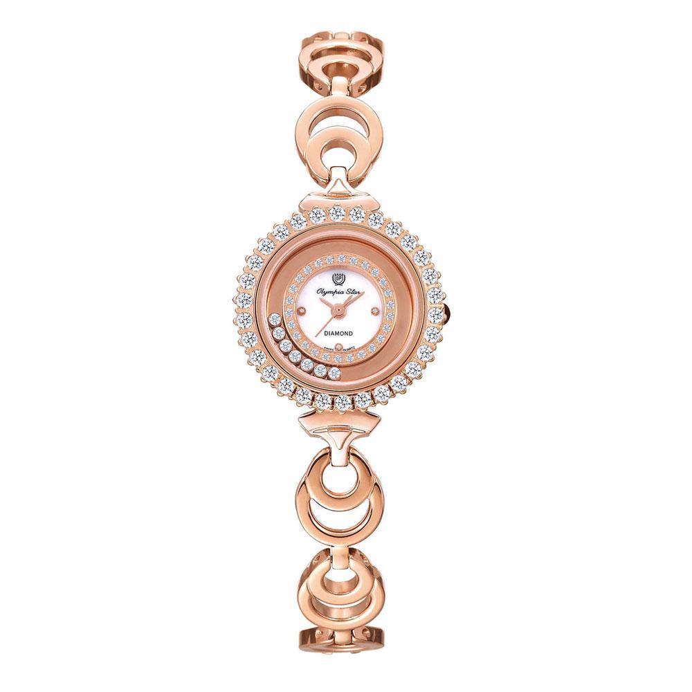 OLYMPIA STAR(オリンピア スター) レディース 腕時計 OP-28018DLR-3 【代引不可】【北海道・沖縄・離島配送不可】