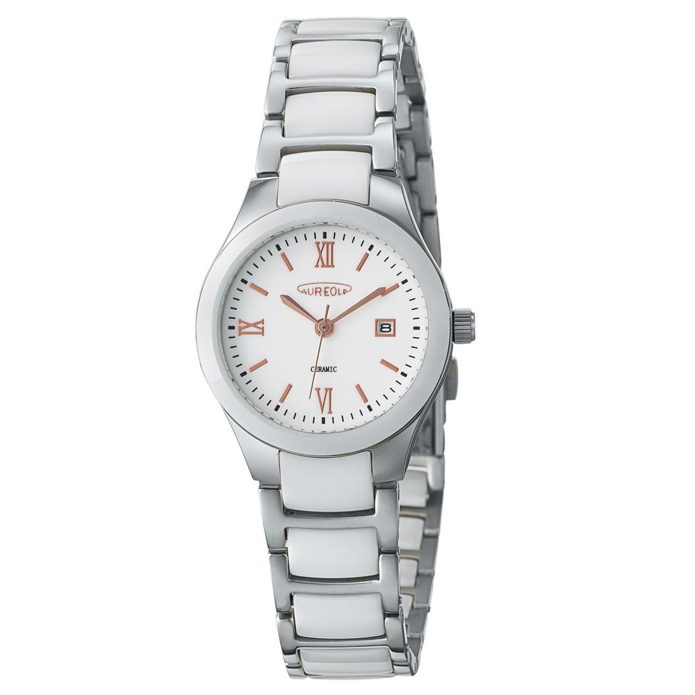AUREOLE(オレオール) セラミック レディース 腕時計 SW-611L-02 【代引不可】【北海道・沖縄・離島配送不可】
