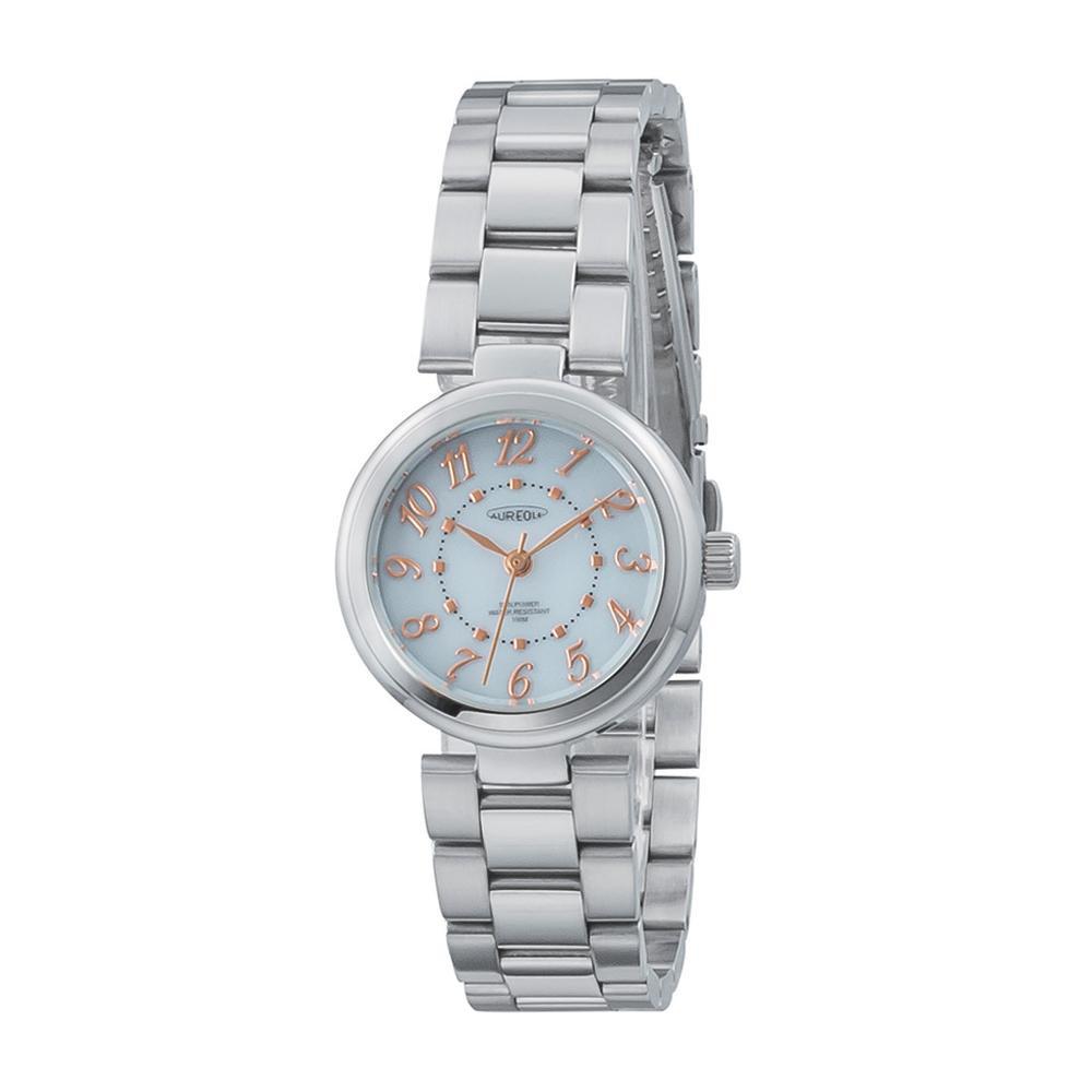 AUREOLE(オレオール) ソーラー レディース 腕時計 SW-596L-03 【代引不可】【北海道・沖縄・離島配送不可】