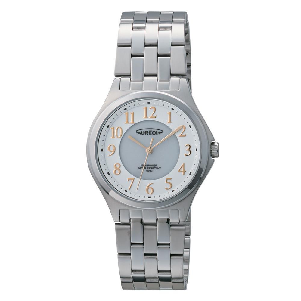 AUREOLE(オレオール) ソーラー メンズ 腕時計 SW-593M-03 【代引不可】【北海道・沖縄・離島配送不可】
