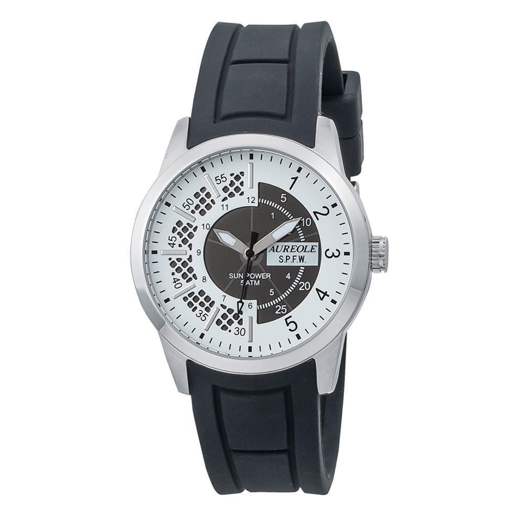 AUREOLE(オレオール) ソーラー メンズ 腕時計 SW-608M-03 【代引不可】【北海道・沖縄・離島配送不可】