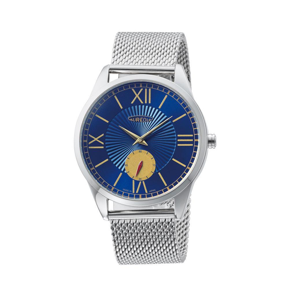 AUREOLE(オレオール) 日本製 メンズ 腕時計 SW-615M-E 【代引不可】【北海道・沖縄・離島配送不可】