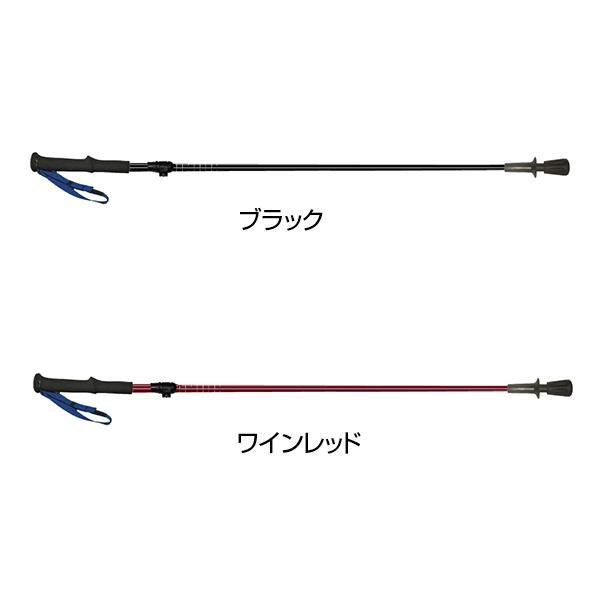 シャフト素材にフルカーボンを採用。 naito(ナイト工芸) 日本製 カーボン 折り畳み式トレッキングポール クィックカーボンVer.1.0 2本組 Mタイプ RUN18-1401 ワインレッド 【代引不可】