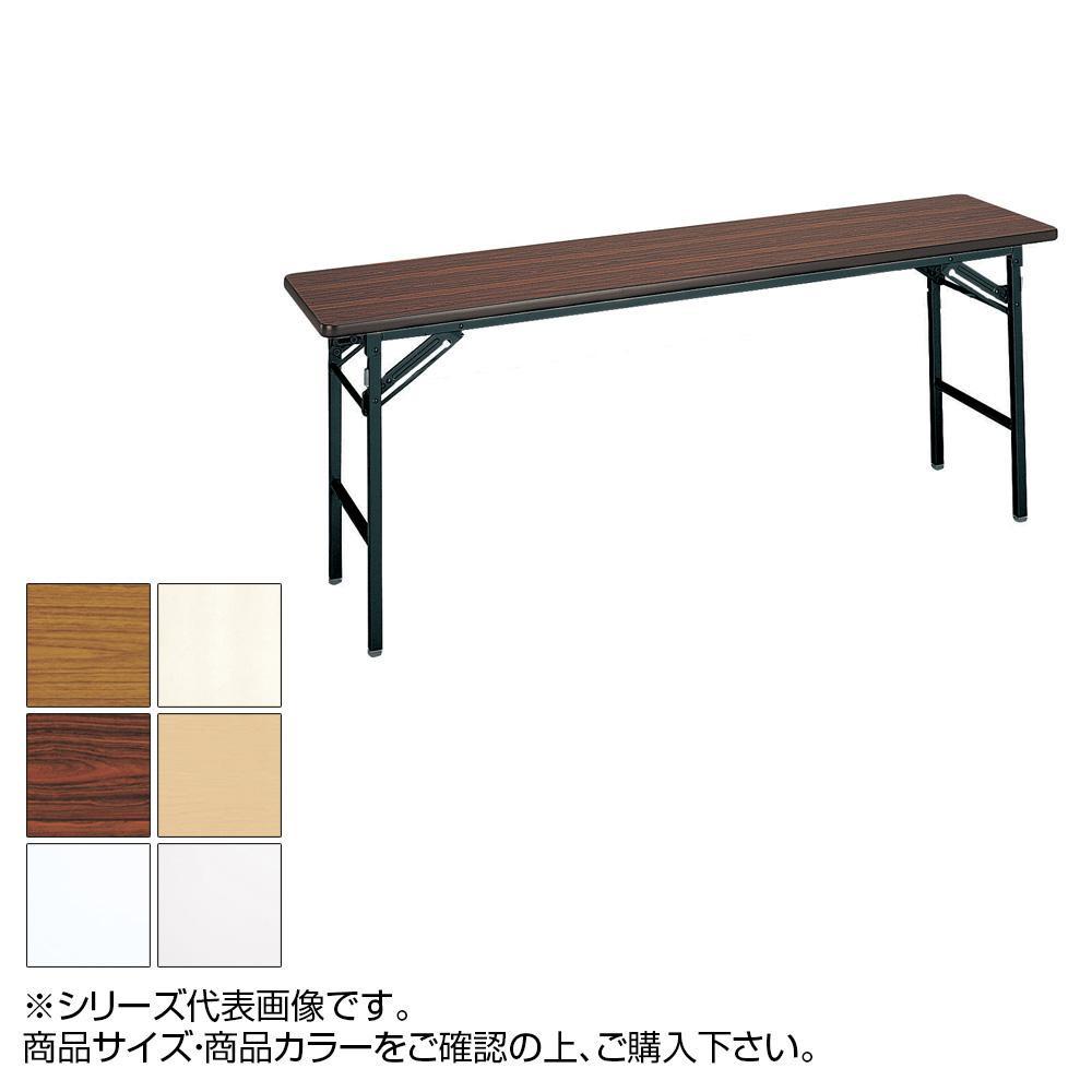 トーカイスクリーン 折り畳み会議テーブル スライド式 ソフトエッジ巻 棚なし ST-156N ホワイト 【代引不可】【北海道・沖縄・離島配送不可】