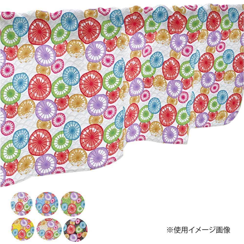 カフェカーテン 和傘 1000×450mm 黄・41295 【代引不可】