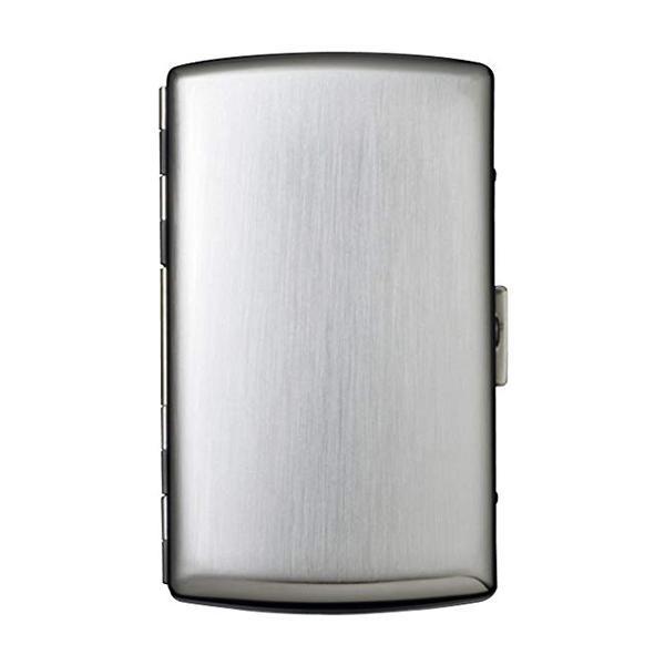 坪田パール シガレットケース ビーナス12 85mm/12本 シルバーサテン 1-21926-61 【代引不可】