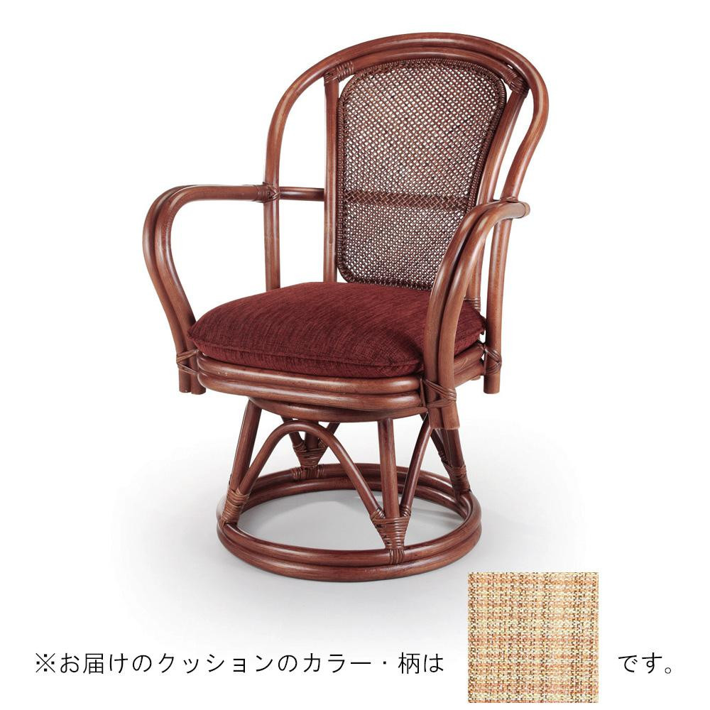 【送料無料】今枝ラタン 籐 シーベルチェア 回転椅子 ブルース A-230LD 【代引不可】