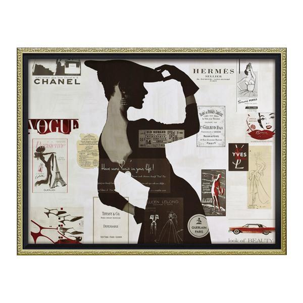 ユーパワー オマージュ キャンバスアート 「ハイファッション2(Mサイズ)」 BC-12038 【代引不可】【北海道・沖縄・離島配送不可】