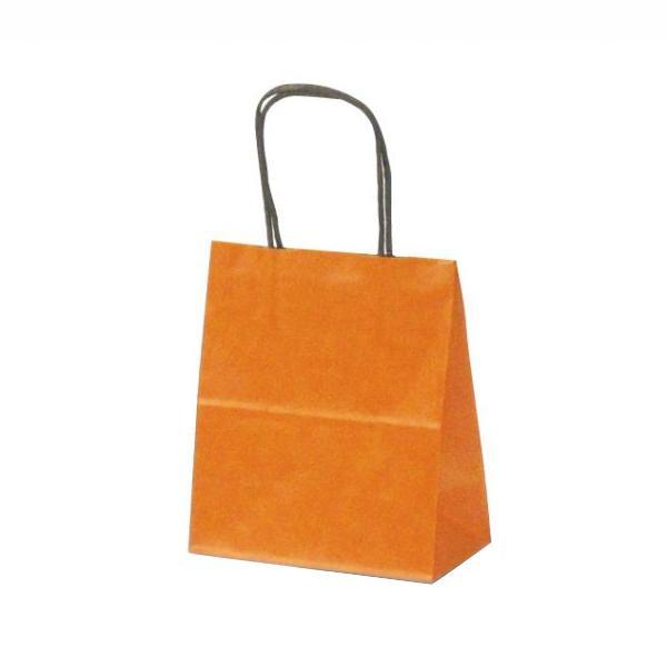 T-1 自動紐手提袋 紙袋 紙丸紐タイプ 180×100×210mm 200枚 カラー(オレンジ) 1113 【代引不可】【北海道・沖縄・離島配送不可】