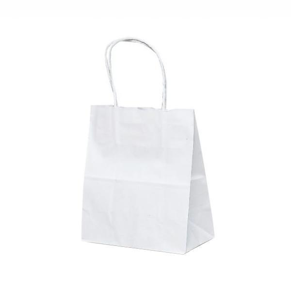 T-1 自動紐手提袋 紙袋 紙丸紐タイプ 180×100×210mm 200枚 白無地 1117 【代引不可】【北海道・沖縄・離島配送不可】