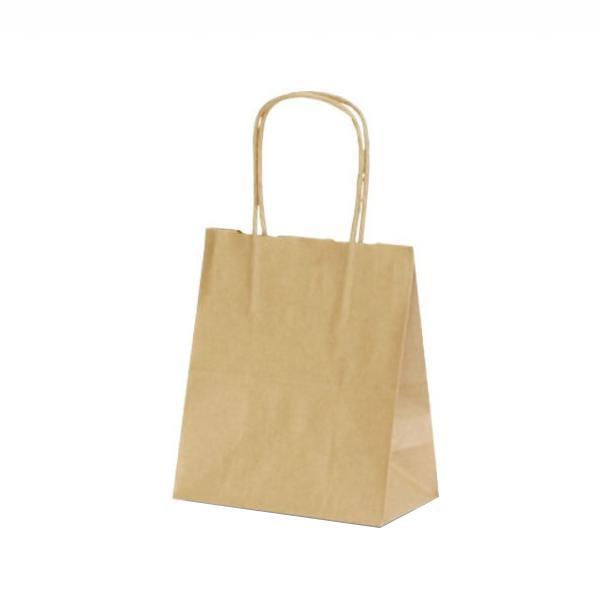 T-1 自動紐手提袋 紙袋 紙丸紐タイプ 180×100×210mm 200枚 茶無地 1118 【代引不可】【北海道・沖縄・離島配送不可】
