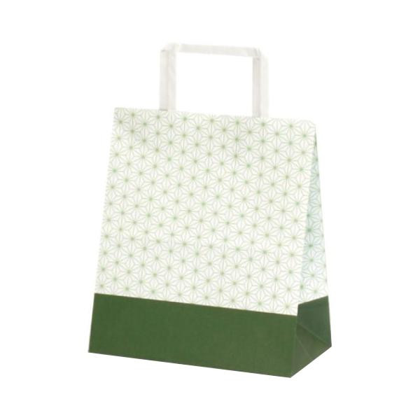 T-Z 自動紐手提袋 紙袋 平紐タイプ 220×120×250mm 400枚 麻の葉 1961 【代引不可】【北海道・沖縄・離島配送不可】