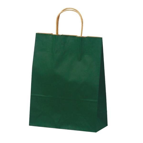T-X 自動紐手提袋 紙袋 紙丸紐タイプ 260×110×330mm 200枚 カラー(緑) 1581 【代引不可】【北海道・沖縄・離島配送不可】