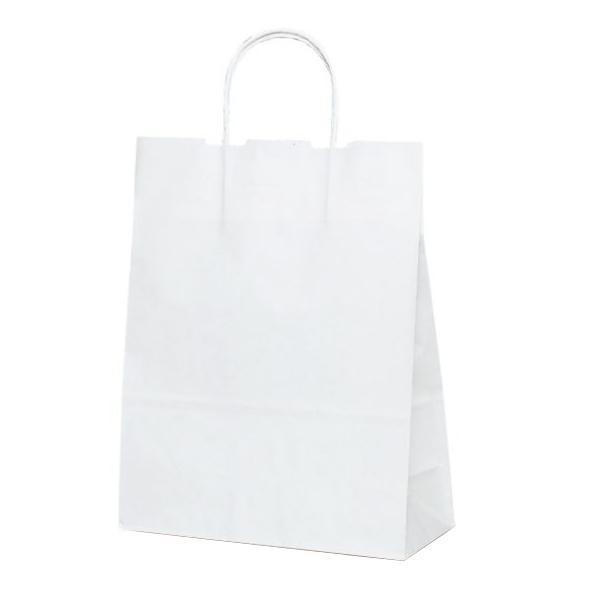 T-X 自動紐手提袋 紙袋 紙丸紐タイプ 260×110×330mm 200枚 白無地 1590 【代引不可】【北海道・沖縄・離島配送不可】